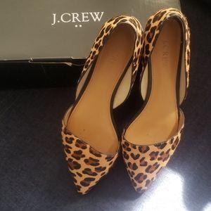 Jcrew Leopard Zoe Calf D'soray Flats